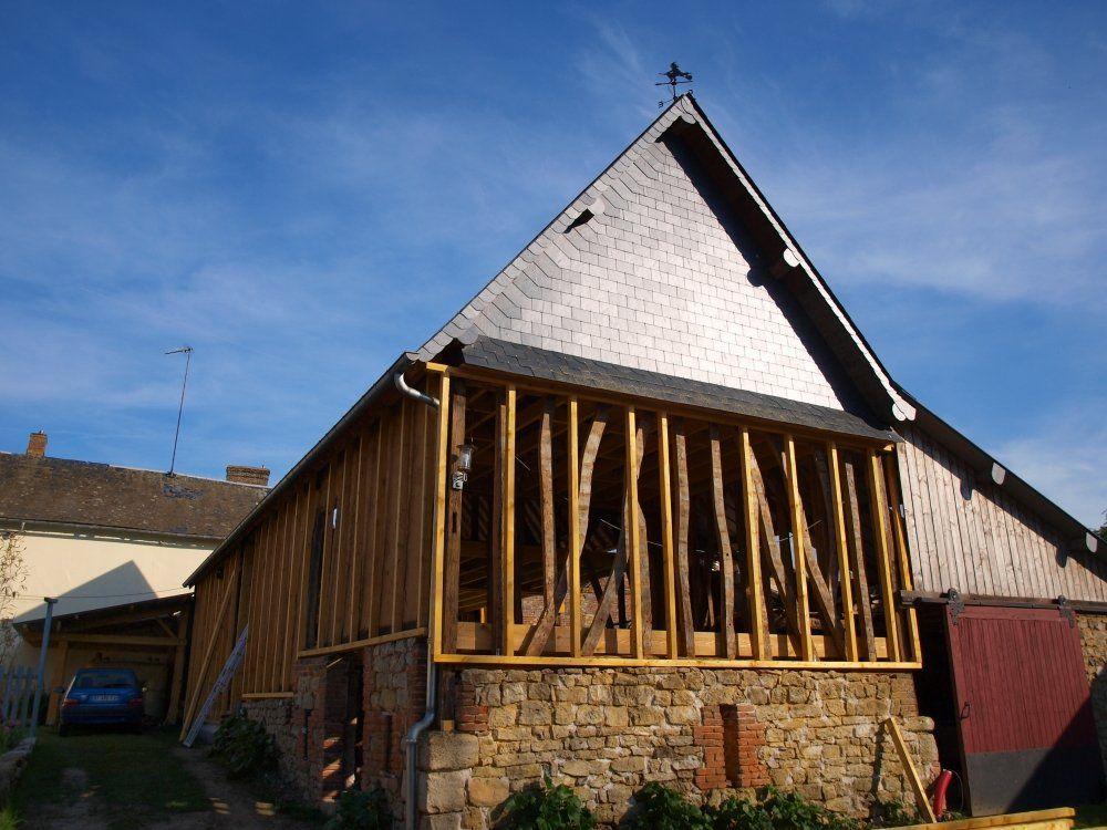 Auto r novation compl te d 39 une grange en torchis - Renovation grange en habitation ...