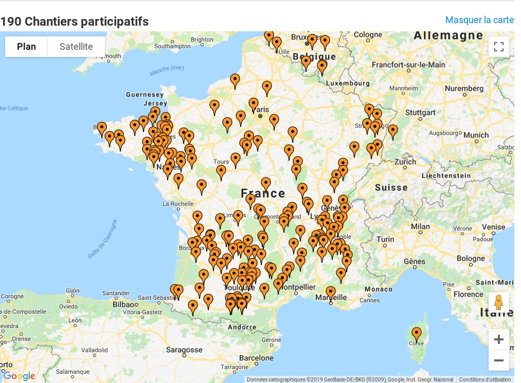 carte Chantiers participatifs